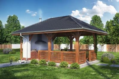 Altany Ogrodowe Z Grillem Projekty Ogrodzenia Betonowe Dębica